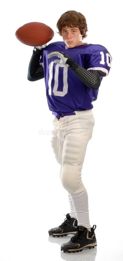 Futbolista adolescente imagen de archivo
