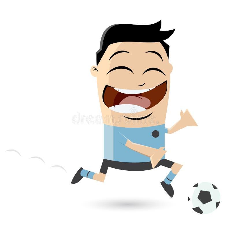 Futbolista asiático stock de ilustración