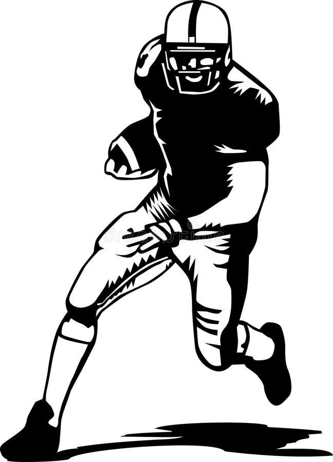 Futbolista blanco y negro stock de ilustración