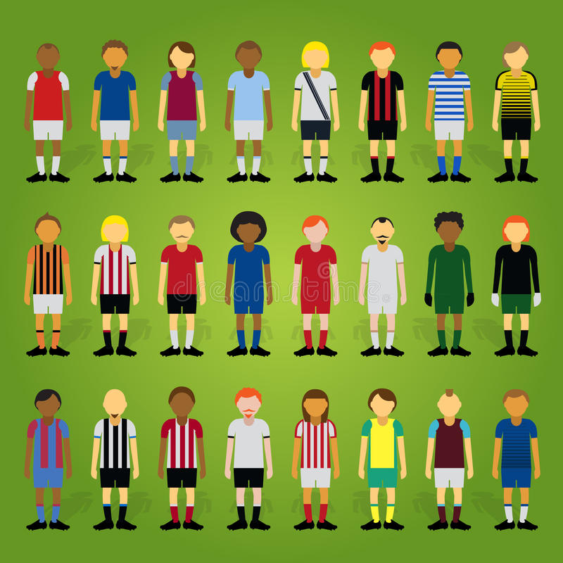 Futbolista Collection de la historieta de la presidencia ilustración del vector