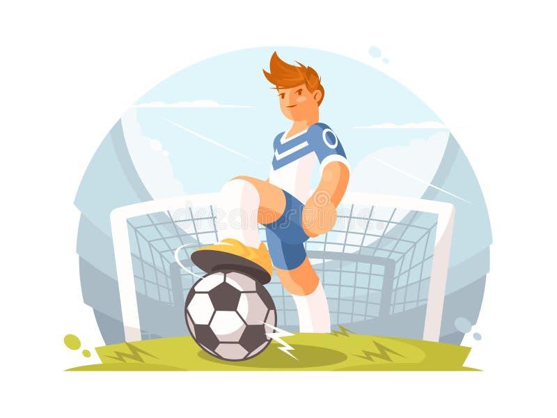 Futbolista del personaje de dibujos animados libre illustration