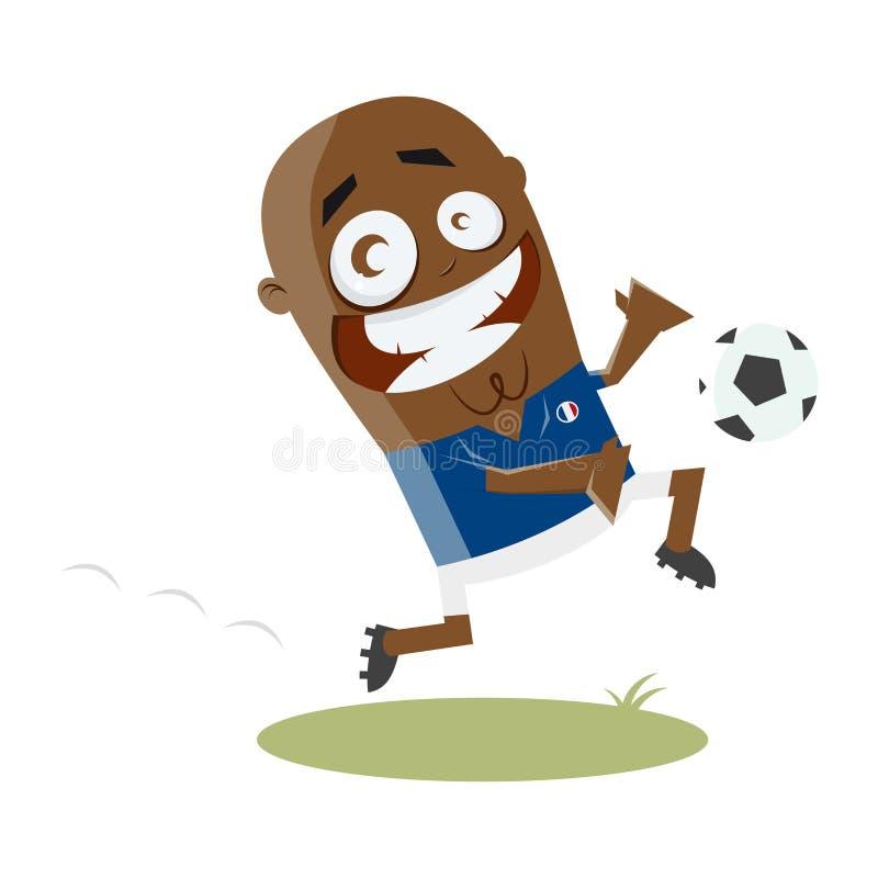 Futbolista divertido de la historieta libre illustration