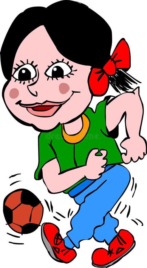 futbolista dziewczyna ilustracja wektor