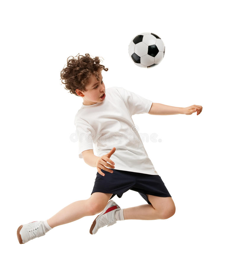 Futbolista en la acción imágenes de archivo libres de regalías