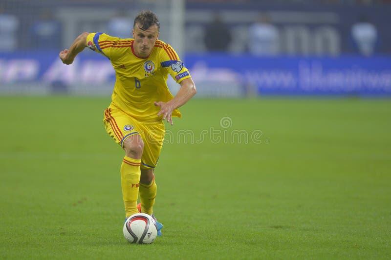 Futbolista - Vlad Chiriches imagen de archivo