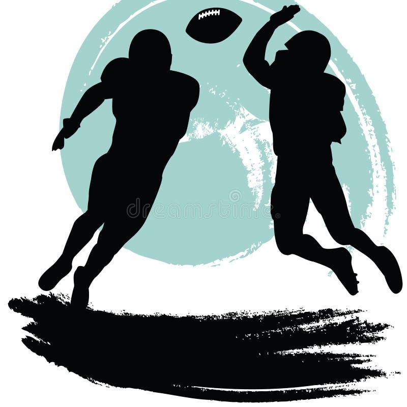 Futbolistas ilustración del vector