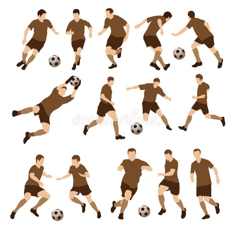 Futbolistas stock de ilustración