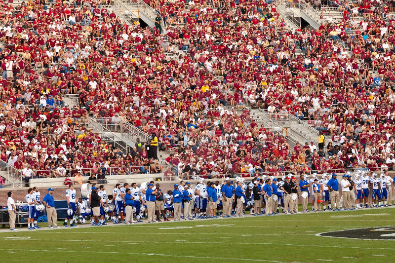 Futbolistas de Duke University imagen de archivo libre de regalías
