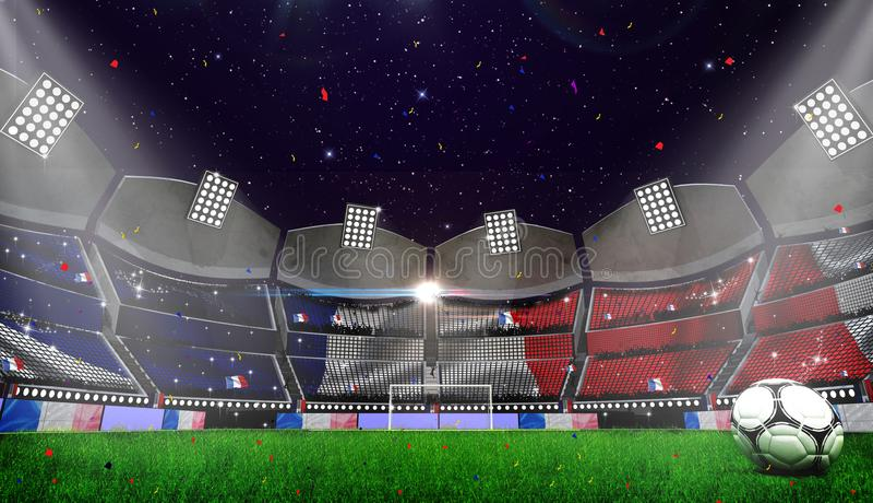 Futbolowa arena Marokańczyk flaga royalty ilustracja