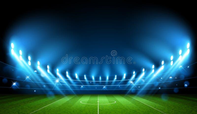 Futbolowa arena stadium wektor ilustracji