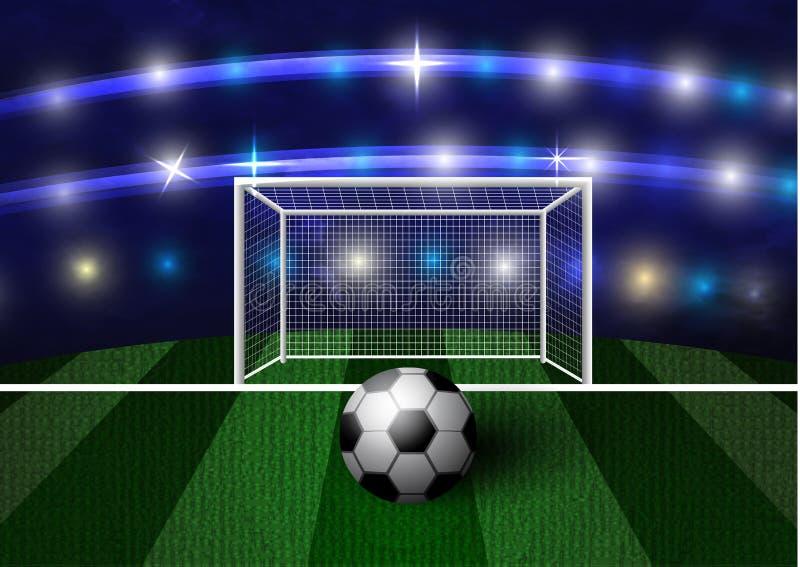 Futbolowa arena z piłki nożnej piłką ilustracja wektor