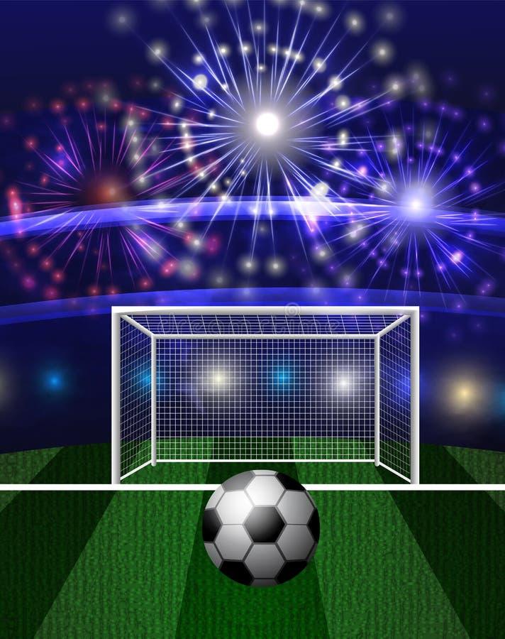 Futbolowa arena z piłki nożnej piłką royalty ilustracja
