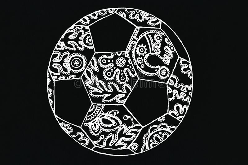 Futbolowa balowa ornament koronka zdjęcia stock