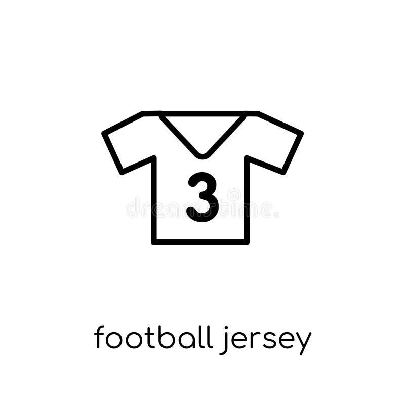 Futbolowa dżersejowa ikona Modny nowożytny płaski liniowy wektorowy futbol ilustracji