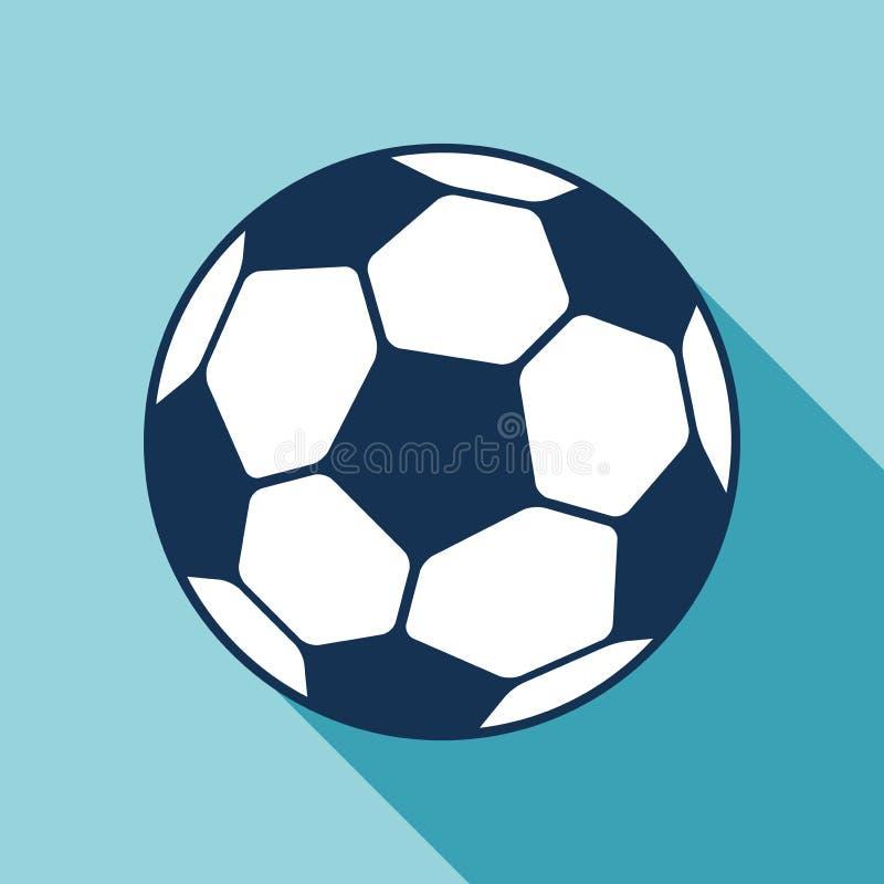 Futbolowa ikona w mieszkanie stylu Wektorowa piłki nożnej piłka na koloru tle Sporta przedmiot dla ciebie projektów projekty ilustracji