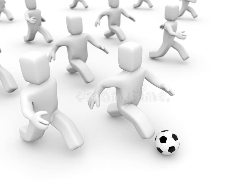 futbolowa marionetka balowa ilustracji