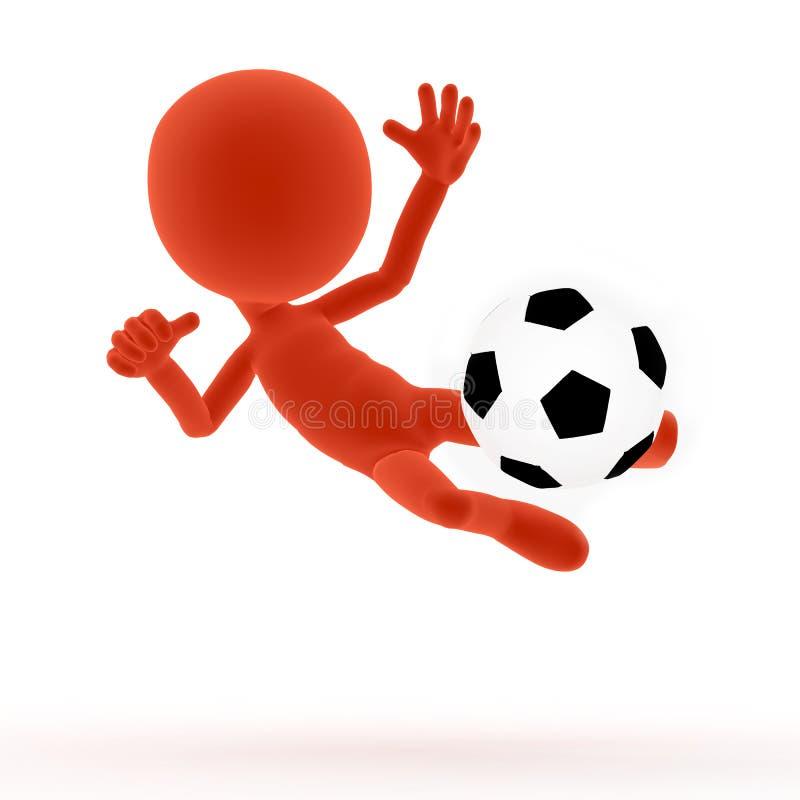 futbolowa mknąca piłka nożna royalty ilustracja