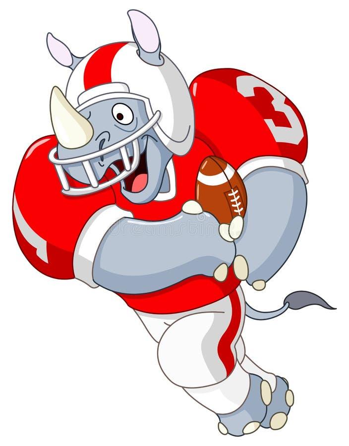 futbolowa nosorożec ilustracja wektor
