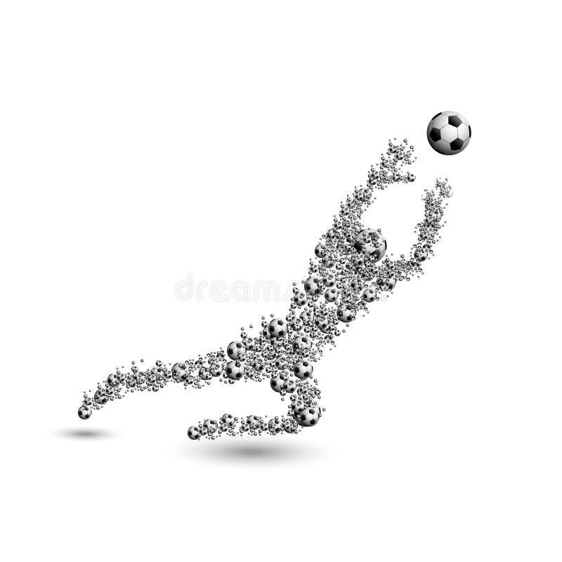 Futbolowa piłka nożna ilustracji