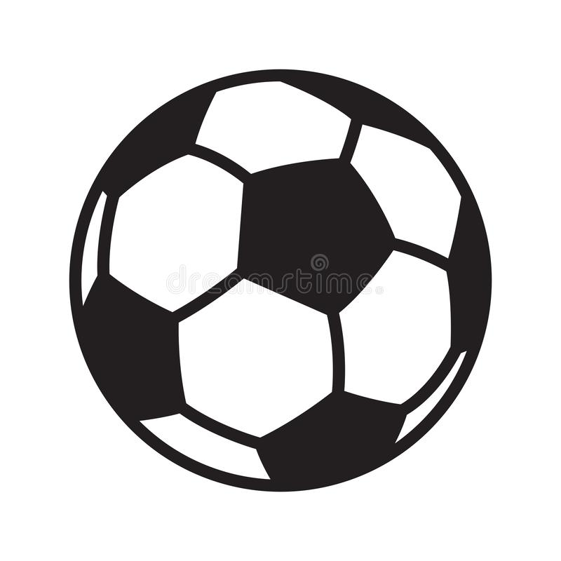 Futbolowa piłki nożnej piłki loga ikony symbolu kreskówki ilustraci wektorowa grafika royalty ilustracja