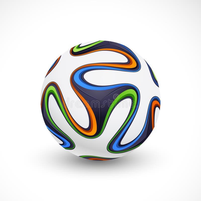 Futbolowa piłki nożnej piłka Brazylia 2014 royalty ilustracja