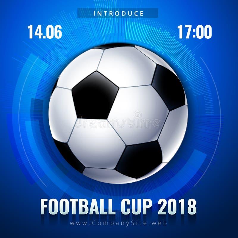 Futbolowa pucharu świata Rosja tapeta, koloru mistrzostwa wzór z elementami, nowożytnymi i tradycyjnymi, 2018 trend ilustracji