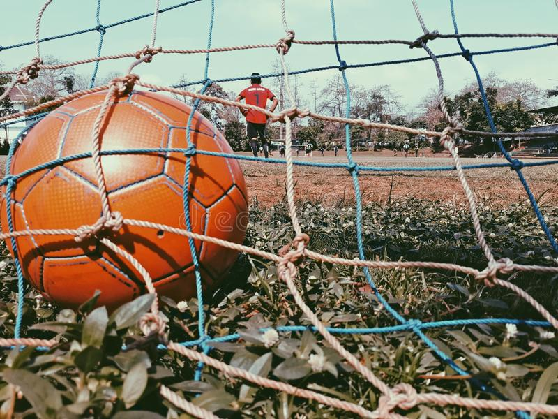 Futbolowa sesja szkoleniowa fotografia stock