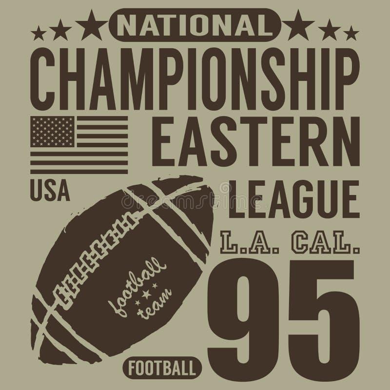 Futbolowa sport typografia, koszulka druku projekta grafika, wektorowy plakat, odznaki Aplikacyjna etykietka ilustracja wektor