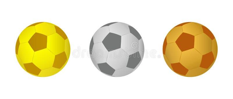 Futbolowe piłki ilustracja wektor