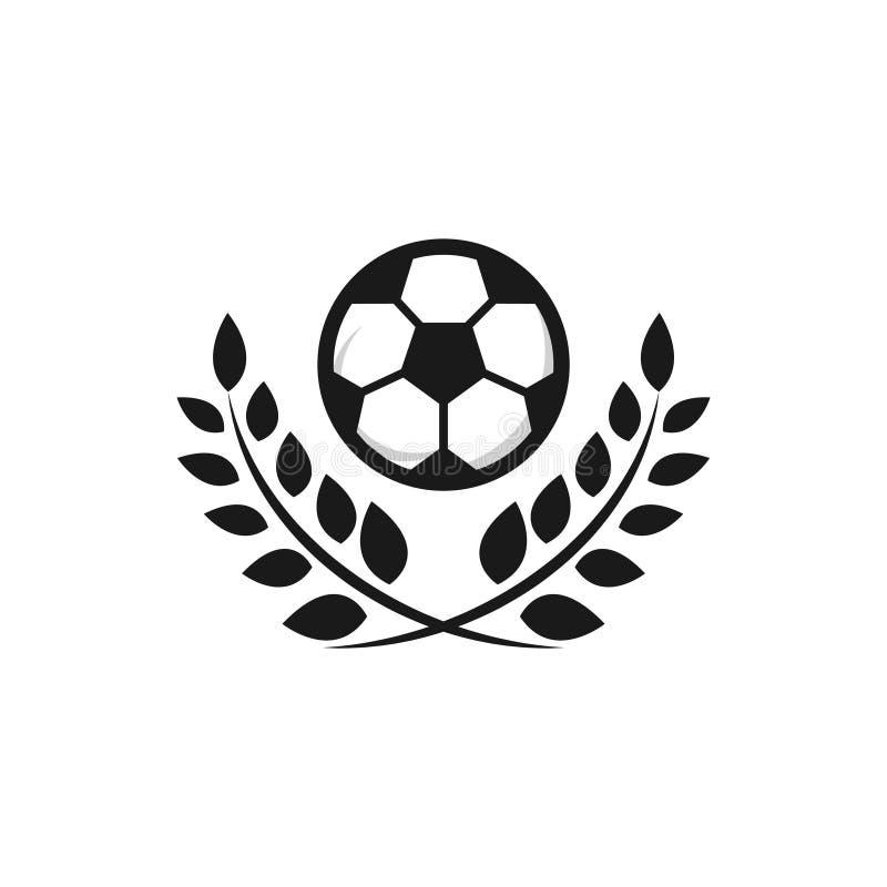 Futbolowego loga szablonu projekta Wektorowa ilustracja ilustracji