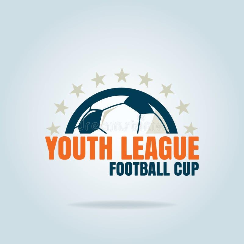 Futbolowego odznaka loga szablonu inkasowy projekt, piłki nożnej drużyna, vecto ilustracja wektor