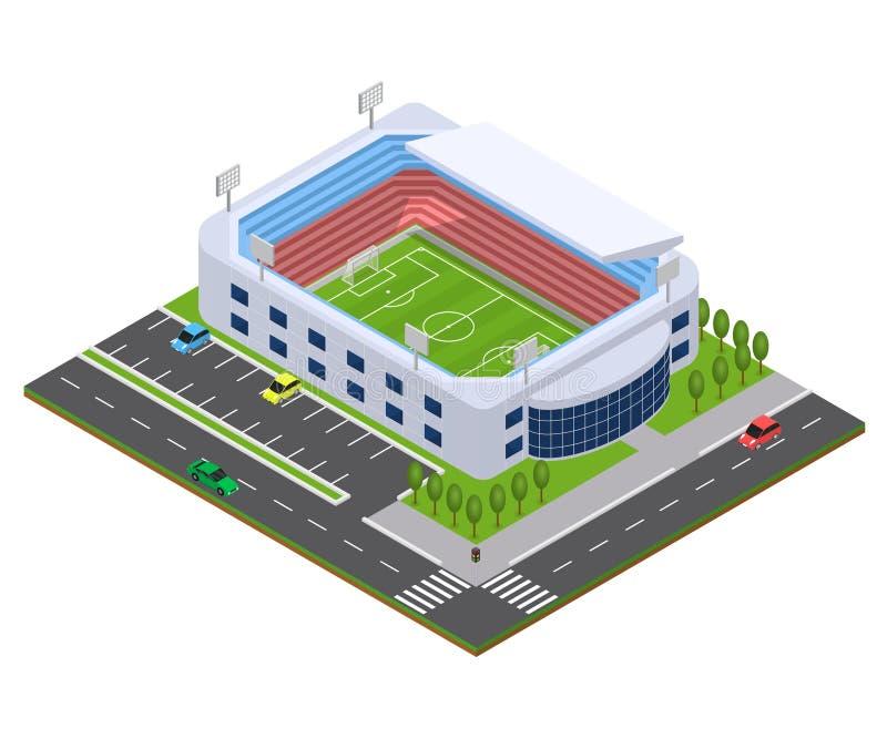 Futbolowej areny Isometric widok wektor ilustracji