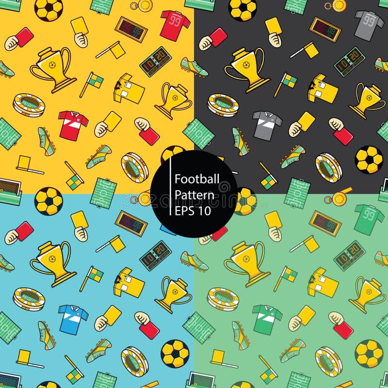 Futbolowej ikony bezszwowy deseniowy tło zdjęcia stock