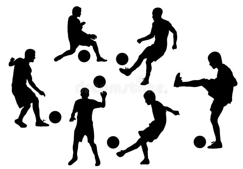 futbolowi ilustracyjni gracze wektorowi royalty ilustracja