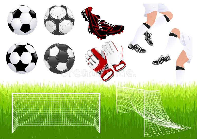 futbolowi przedmioty ilustracja wektor
