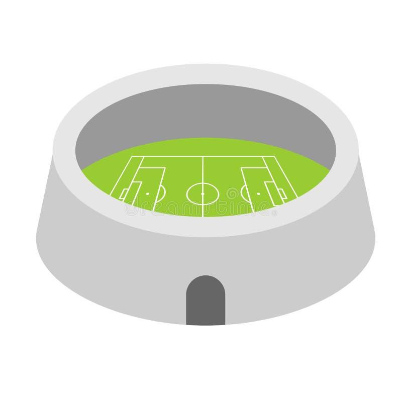 Futbolowy areny stadium Sporty buduje symbol Wektorowy illustrat ilustracja wektor