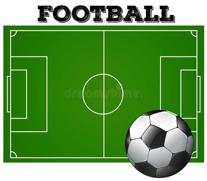 Download Futbolowy Boisko Do Piłki Nożnej Z Piłką Ilustracja Wektor - Ilustracja złożonej z soccer, grafika: 57657743