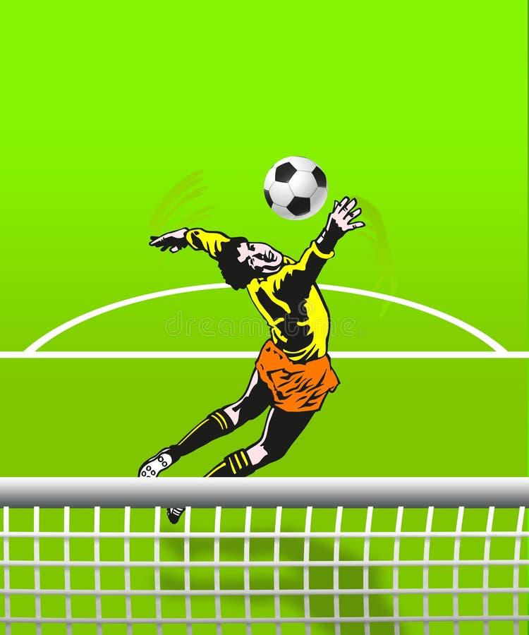 Futbolowy bramkarz ilustracji