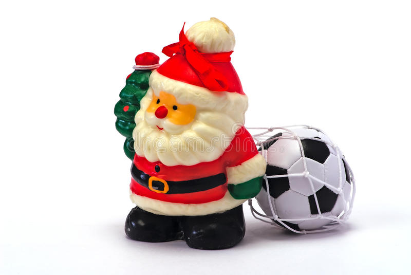 futbolowy Claus whit Santa obraz royalty free
