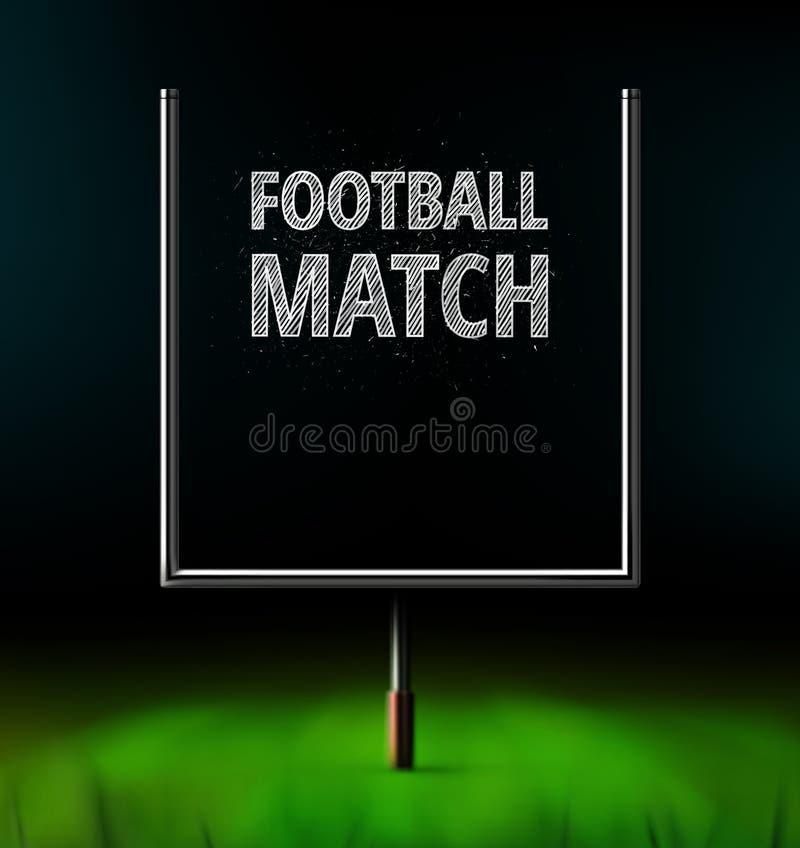 Futbolowy dopasowanie ilustracji