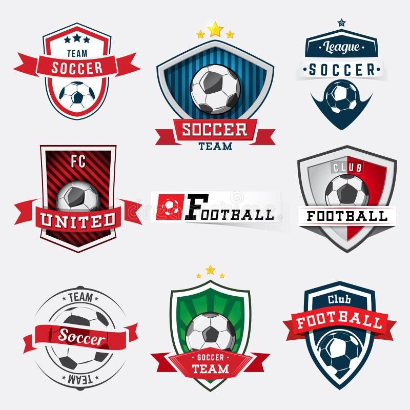 Futbolowy emblemata set royalty ilustracja