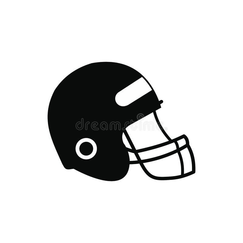 Futbolowy hełm z twarzy maski ikoną royalty ilustracja