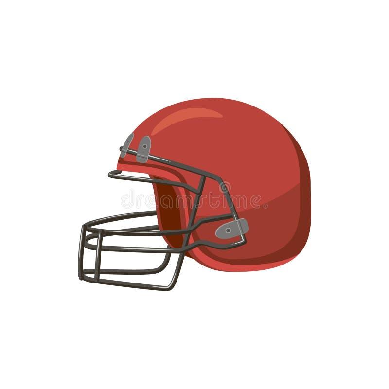 Futbolowy hełm z twarzy maski ikoną, kreskówka styl ilustracji