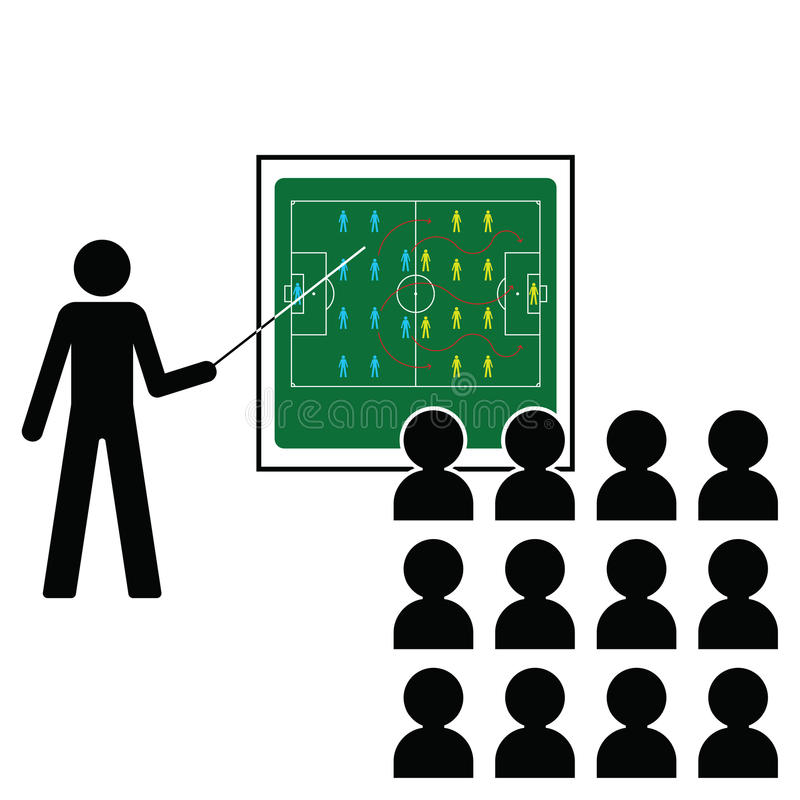 futbolowy kierownik royalty ilustracja