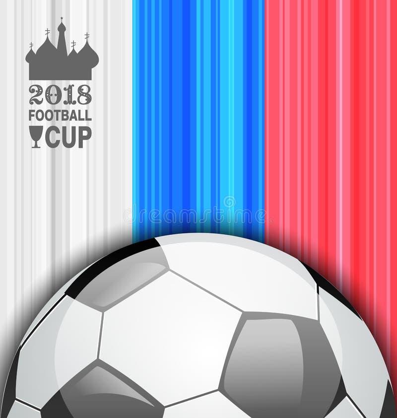 Futbolowy mistrzostwo sztandar, Rosja 2018, sporta tło ilustracja wektor