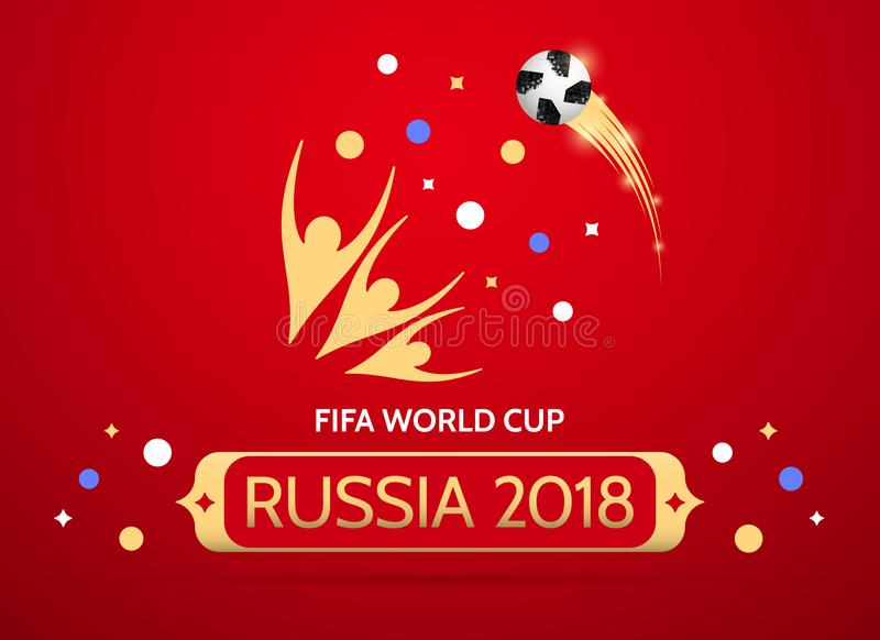 Futbolowy mistrzostwo w Rosja 2018 ilustracja wektor
