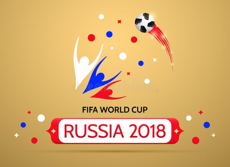Futbolowy mistrzostwo w Rosja 2018 royalty ilustracja