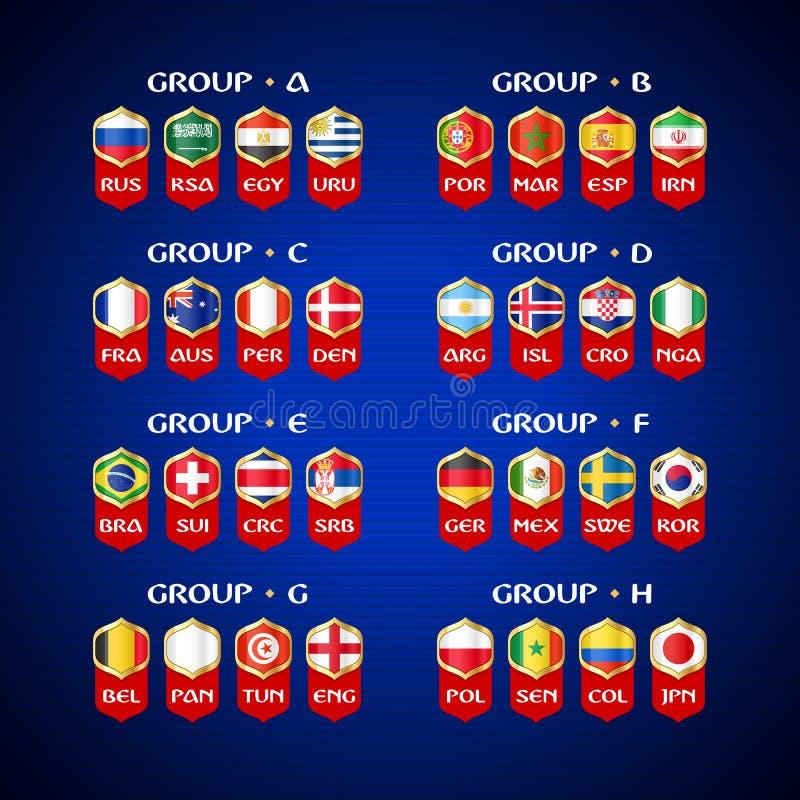 Futbolowy mistrzostwo w Rosja 2018 ilustracji
