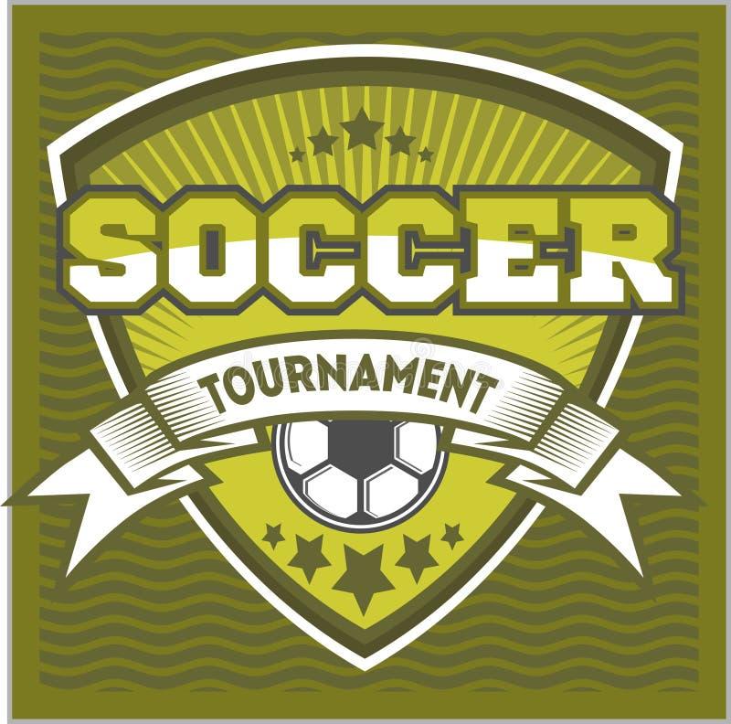 Futbolowy odznaka loga szablonu projekt, piłki nożnej drużyna ilustracji