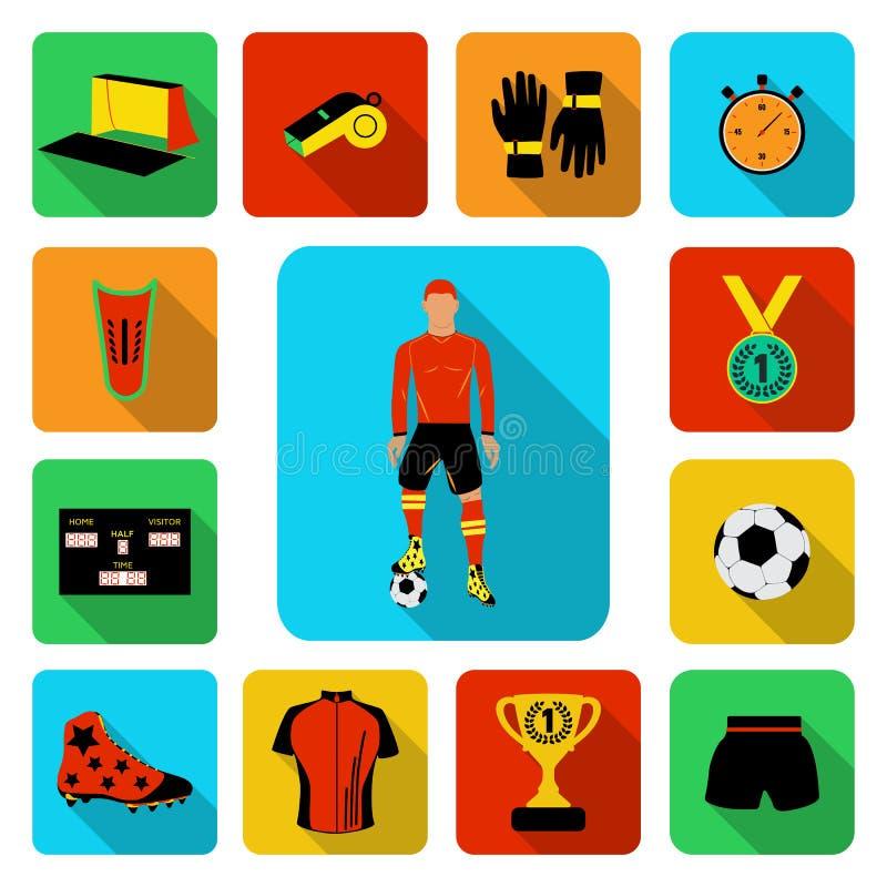 Futbolowy plakat ilustracja wektor